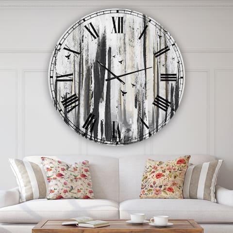 Designart 'Strange World' Oversized Cottage Wall Clock