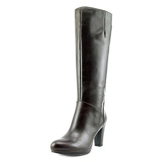 Nine West Possible Pointed Toe Leather Knee High Boot