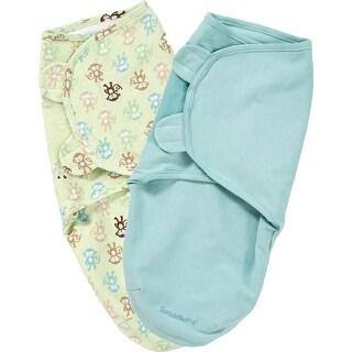 Summer Infant SwaddleMe - Cotton Knit SM-MED, 2pk SwaddleMe - Cotton Knit 2 Pack SM-MED - Monkey Fun