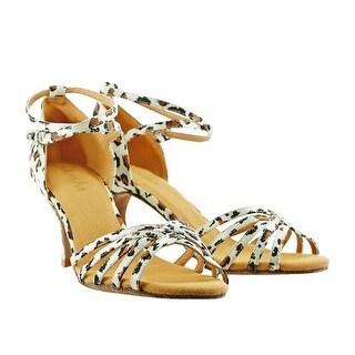 Sansha Adult Leopard Satin Upper Suede Sole Alaia Ballroom Shoes Womens