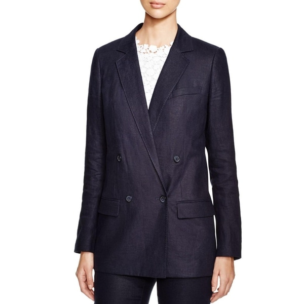 MICHAEL Michael Kors Womens One-Button Blazer Linen Long Sleeve
