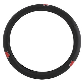 Pilot Automotive Black Leather University of Wisconsin Badger Car Auto Steering Wheel Cover