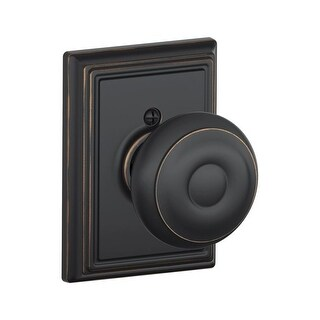 Schlage F170-GEO-ADD Single Dummy Georgian Door Knob with the Decorative Addison Rose (2 options available)