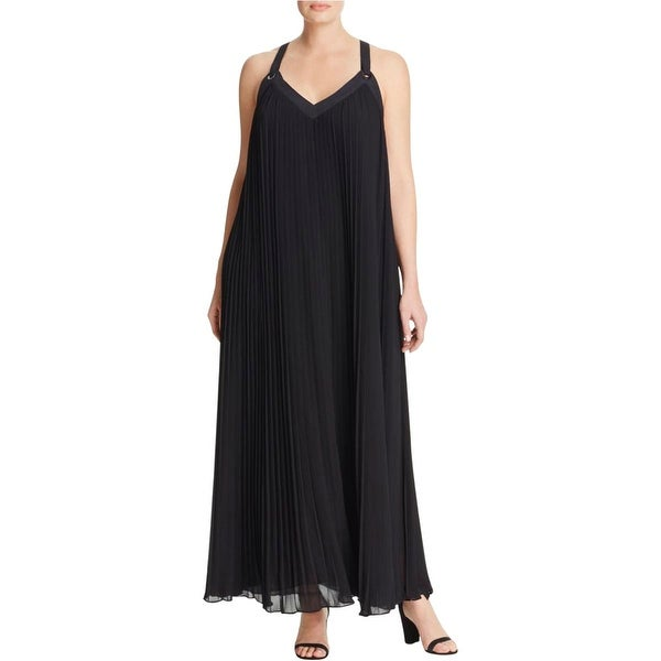 8b3dc104ffd83 MICHAEL Michael Kors Womens Plus Maxi Dress Chiffon Pleated