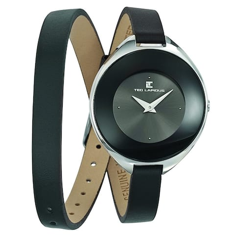 Ted Lapidus Women's Classic A0549RNNN Black Dial watch