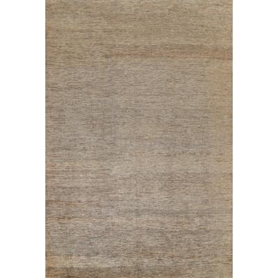 """Earth-Tone Contemporary Oriental Area Rug Handmade Living Room Carpet - 9'9"""" x 13'5"""""""