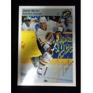 Signed Herter Jason Hamilton Canucks 1993 Classic Games Hockey Card autographed