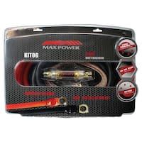Max Power Amp Kit 0 Gauge; 3600 Watts