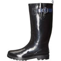 Nautica Womens finsburt Rubber Closed Toe Knee High Rainboots