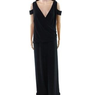 Lauren by Ralph Lauren NEW Black Womens Size 20W Plus V-Neck Jumpsuit