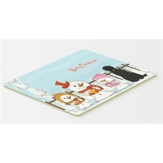 Carolines Treasures BB2357CMT Merry Christmas Carolers Black Russian Terrier Kitchen or Bath Mat 20 x 30