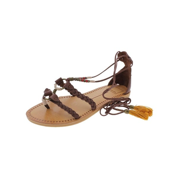 Dolce Vita Womens Jinny Flat Sandals Open Toe Braided - 7.5 medium (b,m)