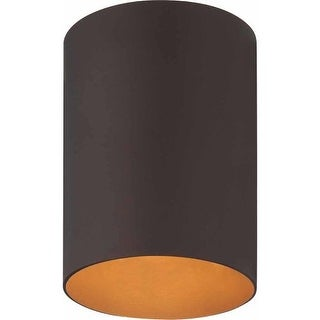 Volume Lighting V9615 1 Light Flush Mount Outdoor Ceiling Fixture with Metal Sha (2 options available)