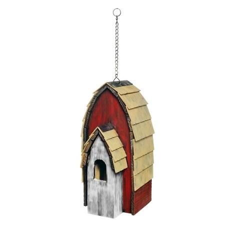"""Alpine YEN146HH-WT Wood Bird House, 16"""", White"""