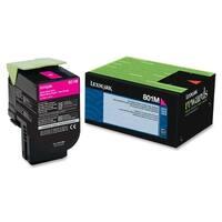 Lexmark 80C10M0 Lexmark 801M Magenta Return Program Toner Cartridge - Magenta - Laser - 1000 Page - 1 Each - OEM
