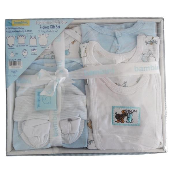 Bambini 7 Piece Gift Box (Blue, Newborn)