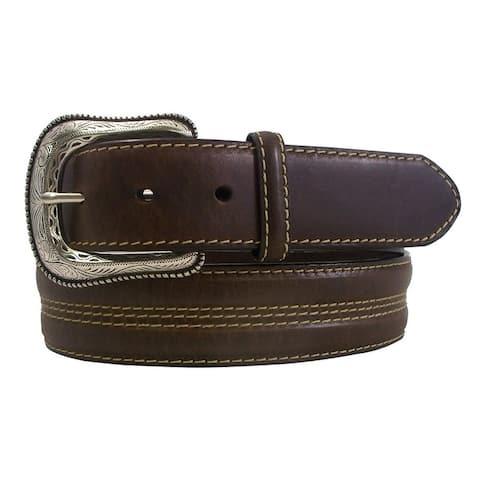 Roper Western Belt Mens Concho Stitched Brown