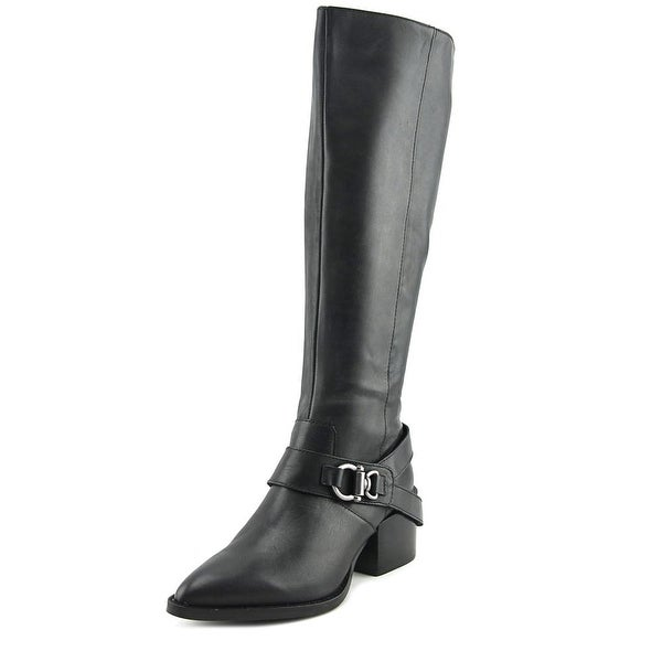 Design Lab Lord & Taylor Adelienne Women Leather Black Knee High Boot