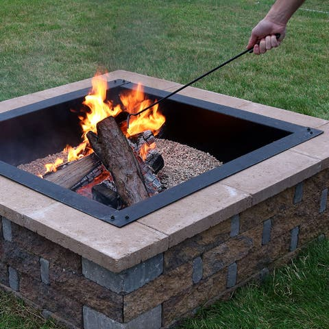 Sunnydaze Steel Fire Pit Poker for Logs, Firewood, Fire Pit and BBQs - 26-Inch - Black Black
