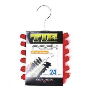 Red Chrome Plated Tie Rack TR24 - One size
