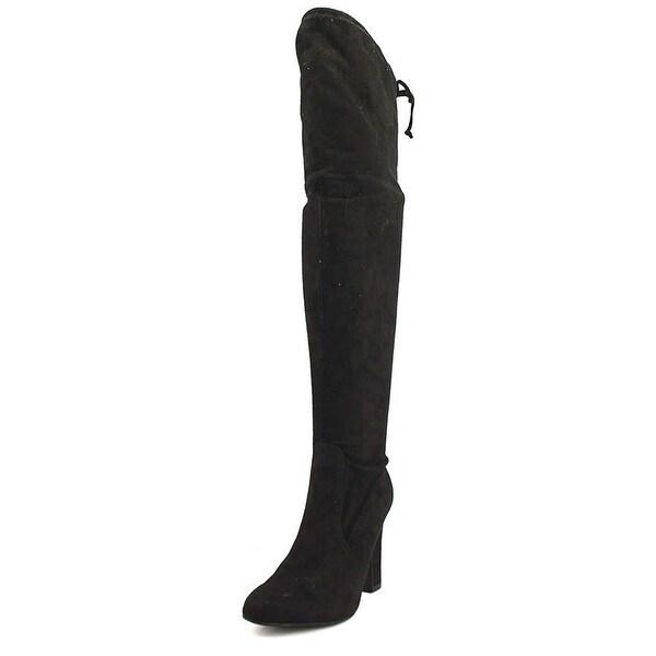 Unisa Womens Saromi Fabric Almond Toe Knee High Fashion Boots