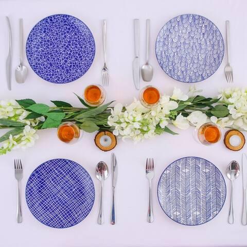 vancasso Macaron 4-Piece Multi-Color Dinner Plates Dessert Soup Plates