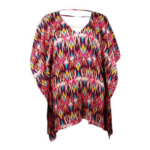Kenneth Cole New York Women's 'Just Enough' Ikat Swim Tunic Coverup (S, Multi) - Multi - S