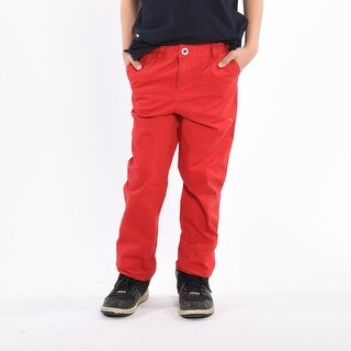 Boys Casual Blasted Red Pants