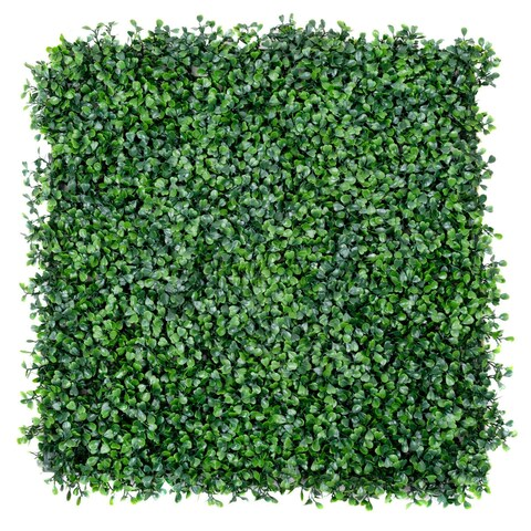 Costway 12 Artificial Hedge Plant Privacy Fence Screen Topiary Decorative Wall 20'' x 20''