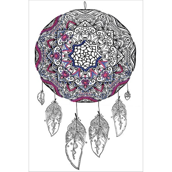 """Zenbroidery Stamped Embroidery 10""""X16""""-Dream Catcher"""