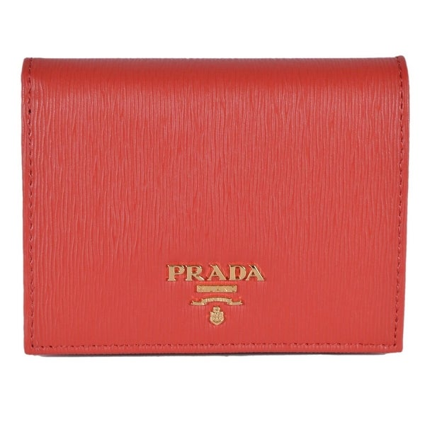 0f3cbeb76e Shop Prada Women's 1MV204 2EZZ Vitello Red Leather Small Bifold ...