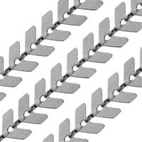 Matte Gun Metal Plated Bulk Chain, Chevron Links 6.5mm, Sold By the Foot