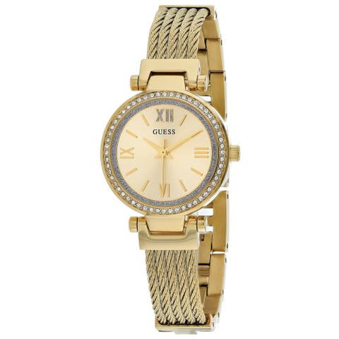 Guess Women's Mini Soho Gold Dial Watch - W1009L2