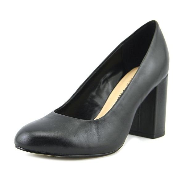 Bella Vita Nara Women W Round Toe Leather Black Heels