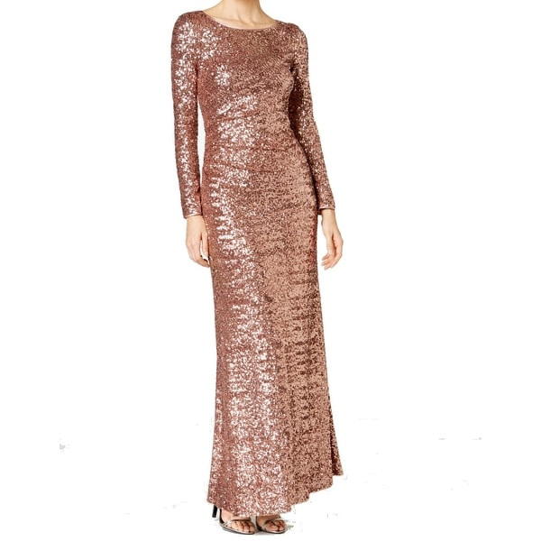 565adfea43 Shop Vince Camuto Rose Gold Women s Sequin Gown Dress - Free ...