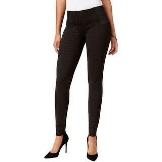 Kut Womens Skinny Pants Plaid Pull On