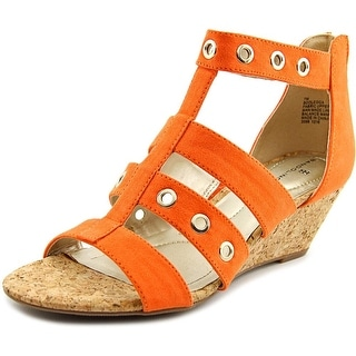 Bandolino Olegga Women  Open Toe Canvas  Wedge Sandal