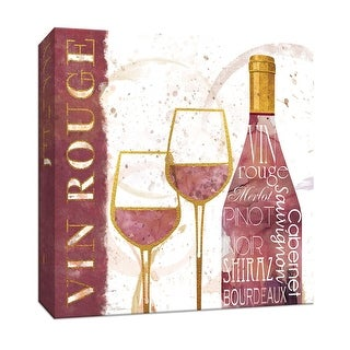 """PTM Images 9-147325  PTM Canvas Collection 12"""" x 12"""" - """"Vin Rouge"""" Giclee Wine Art Print on Canvas"""