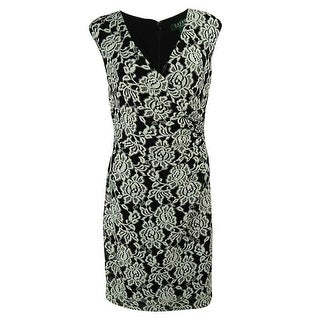 Ralph Lauren Women's Sleeveless V-Neck Lace Dress - 10