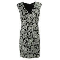Ralph Lauren Women's Sleeveless V-Neck Lace Dress - Black/White - 10