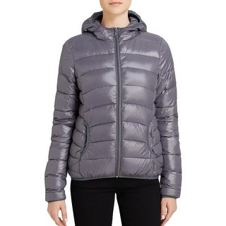 Aqua Womens Puffer Jacket Lightweight Packable