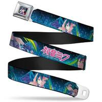 Hatsune Miku Listening Pose Full Color Pink Fade Hatsune Miku Poses Blues Seatbelt Belt