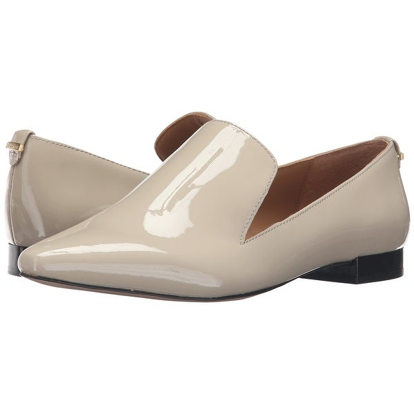 Calvin Klein Womens Elin Fabric Pointed Toe Loafers