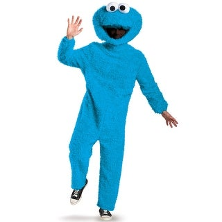 Disguise Full Plush Cookie Monster Prestige Adult Costume - Blue