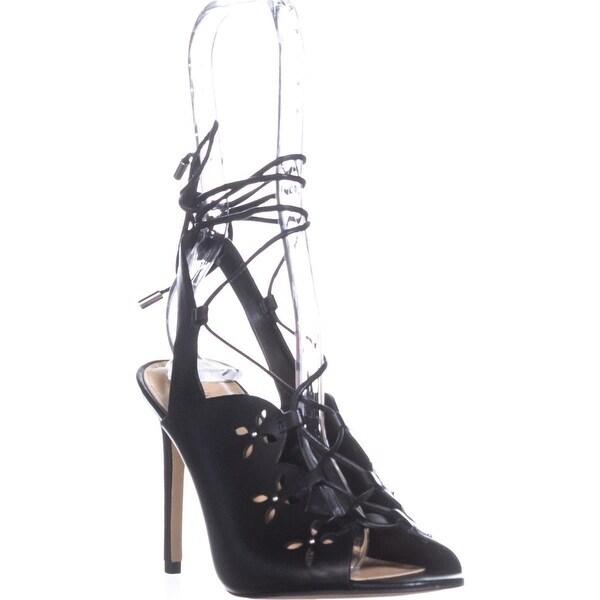 MICHAEL Michael Kors Thalia Lace Up Sandals, Black