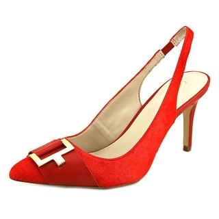 Calvin Klein Galo Women Pointed Toe Suede Slingback Heel