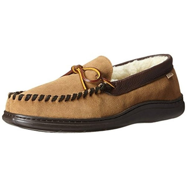 L.B. Evans Mens Atlin Moccasin Slippers Suede