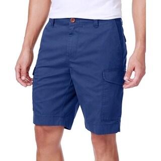 Tommy Hilfiger Estate Blue Mens Size 35 Solid Short Cargo Shorts