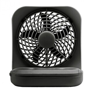 """O2-Cool FD05004BLK Battery Operated Portable Fan, 2-Speed, Black, 5"""""""