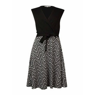 Sandra Darren Women's Belted Pique A-Line Dress - 10